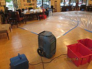Disaster Restoration Equipment and Flooring Restoration Project