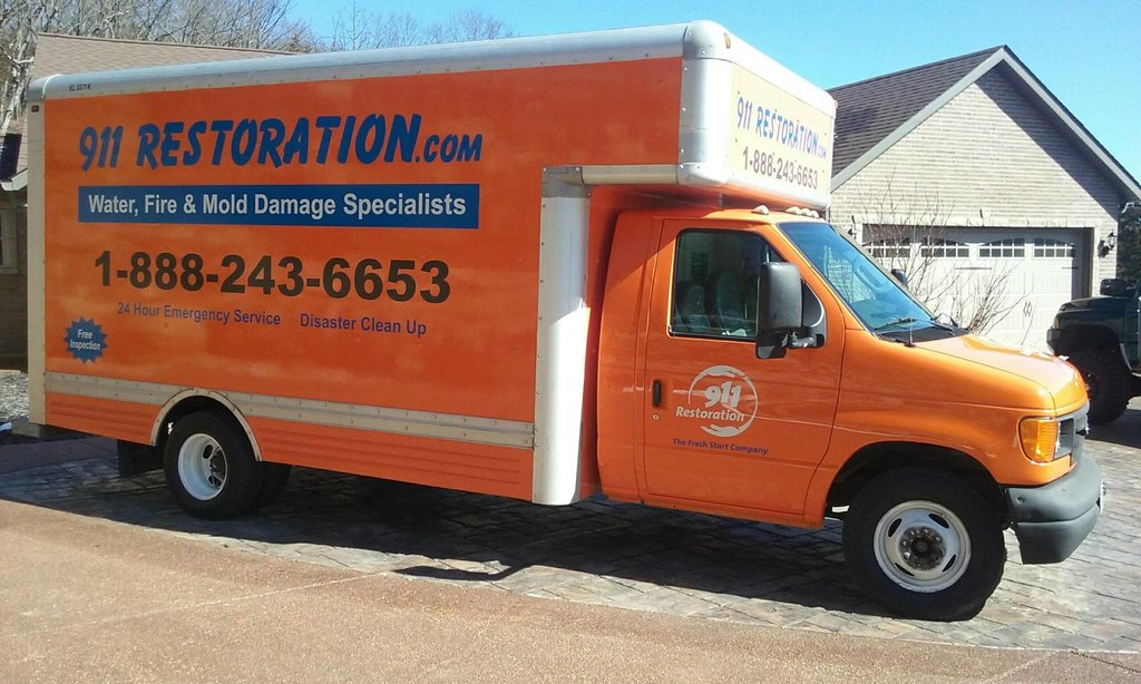 Water damage Homewood fully equipped truck